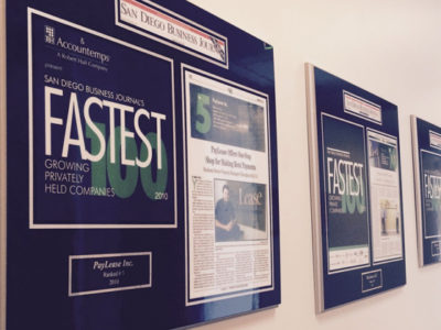 PayLease Featured on Fastest Growing Companies List